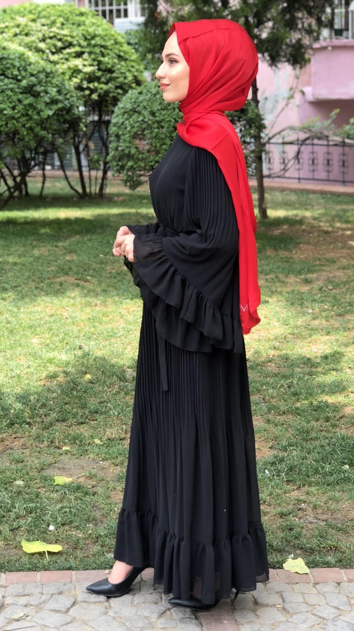GENİŞ KOL ELBİSE